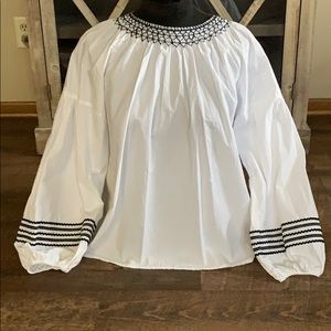 Joie  Top  Size Large   White/ Black
